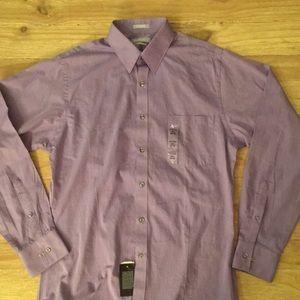 Van Heusen Purple FITTED Chambray Dress Shirt